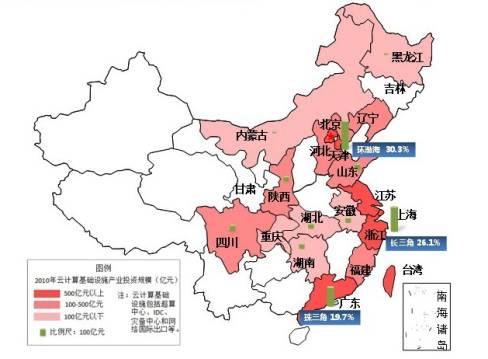 中国云计算基础设施产业地图
