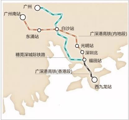 """也是中国""""四纵四横""""高铁网的组成部分,其中武汉—广州,郑州&"""