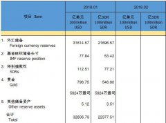 中国外汇储备连续12个月增长 且连续12个月站稳3万亿